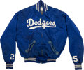 Baseball Collectibles:Others, 1961-67 Frank Howard Game Worn Los Angeles Dodgers Jacket. ...