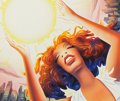 Pin-up and Glamour Art, ROBERT GROSSMAN (American, b. 1940). Donna Summer, probablemagazine illustration, circa 1979. Watercolor and airbrush o...