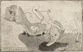 Texas:Early Texas Art - Drawings & Prints, KELLY FEARING (American, 1918-2011). Suite of Four Prints:Floating Above, Beach, The Birds, and Growth Below,1945... (Total: 4 )