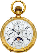 Timepieces:Pocket (pre 1900) , Chs. Ad. Montandon, Locle, 18K Gold Astronomic Perpetual Moon PhaseFor Restoration, circa 1880's. ...