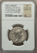 Ancients:Roman Provincial , Ancients: SYRIA. Antioch. Augustus (27 BC-AD 14). AR tetradrachm(14.10 gm)....