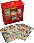 Baseball Cards:Unopened Packs/Display Boxes, Circa 1960 Trading Card & Bubble Gum Vending Machine With Over 80 Uncirculated Cards. ...