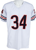 Football Collectibles:Uniforms, 1990's Walter Payton Multi Signed Chicago Bears Jersey With 5 Inscriptions. ...