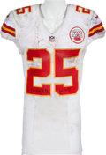 Football Collectibles:Uniforms, 2013 Jamaal Charles Game Worn, Unwashed Kansas City Chiefs Jersey - Worn 9/19/13 at Philadelphia....