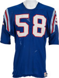 Football Collectibles:Uniforms, Circa 1963 Mike Stratton Game Worn Buffalo Bills Jersey - Great Use & Rare Style....