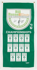 Basketball Collectibles:Others, Bill Russell Signed Commemorative Banner....