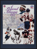 Football Collectibles:Photos, Walter Payton Signed Oversized Photograph....