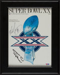 Football Collectibles:Programs, 1986 Singletary, Payton and Ditka Signed Super Bowl XX Program....