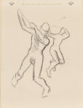 Fine Art - Work on Paper:Drawing, THOMAS HART BENTON (American, 1889-1975). Figure Studies (two double-sided works). Each, pencil on paper. 11 x 8-1/2 inc... (Total: 2 Items)