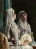Fine Art - Painting, American:Antique  (Pre 1900), FREDERICK WARREN FREER (American, 1849-1908). The Old Veil,circa 1886-88. Oil on canvas. 22 x 15-3/4 inches (55.9 x 40....