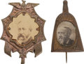 Political:Ferrotypes / Photo Badges (pre-1896), Benjamin Harrison: Two Campaign Badges....
