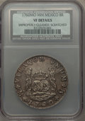 Mexico, Mexico: Charles III Pillar Dollar of 8 Reales 1760 Mo-MM VF Details(Improperly Cleaned Scratched) NCS,...