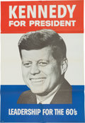 Political:Posters & Broadsides (1896-present), John F. Kennedy: Large Campaign Poster....