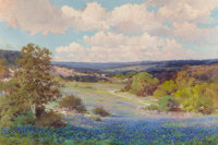 ROBERT WILLIAM WOOD (American, 1889-1979) Texas Bluebonnets, San Antonio, 1930 Oil on canvas 32 x