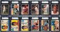 Baseball Cards:Sets, 1955 - 1957 Topps Mid To High Grade Near and Partial Sets Trio (3)....