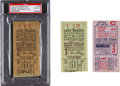 Baseball Collectibles:Tickets, 1927 World Series Ticket Stubs Lot of 3 - Murderer's Row. ...