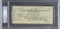 Baseball Collectibles:Others, 1930 Tony Lazzeri Signed Check. ...