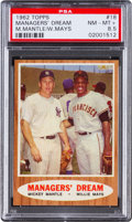 """Baseball Cards:Singles (1960-1969), 1962 Topps Mantle/Mays """"Managers' Dream"""" #18 PSA NM-MT+ 8.5...."""