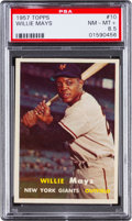 Baseball Cards:Singles (1950-1959), 1957 Topps Willie Mays #10 PSA NM-MT+ 8.5....