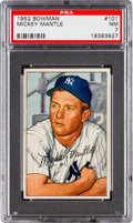 Baseball Cards:Singles (1950-1959), 1952 Bowman Mickey Mantle #101 PSA NM 7....