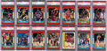 Basketball Cards:Sets, 1986 Fleer Basketball Cards and Stickers PSA Graded Complete Sets (2). ...