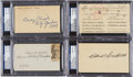 Autographs:Post Cards, 1930's-40's Baseball Managers Signed Postcards With Casey Stengel, Connie Mack, Clark Griffith & Gil Hodges Lot of 4, PSA/DNA ...