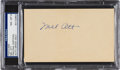 Autographs:Post Cards, 1940's Mel Ott Signed Postcard, PSA/DNA NM-MT 8....
