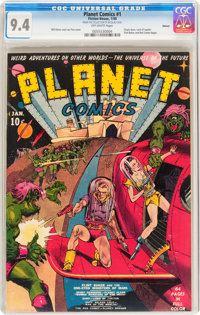 Planet Comics #1 Denver pedigree (Fiction House, 1940) CGC NM 9.4 Off-white pages
