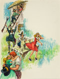 Paintings, GREGUIN (American, 20th Century). Look to Your Geese, paperback cover, 1960. Watercolor, pastel, and ink on board. 21.25... (Total: 2 Items)