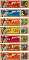 "Non-Sport Cards:Sets, 1950's Ed-U-Cards ""Lone Ranger"" Near Set (35/40 Panels) - InOriginal Display Boxes!..."
