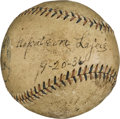 Autographs:Baseballs, 1936 Napoleon Lajoie Single Signed Baseball....