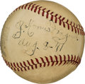 Autographs:Baseballs, 1941 Honus Wagner Single Signed Baseball....