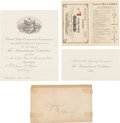 General Historic Events:Expos, 1876 Philadelphia Centennial Exposition Invitation.... (Total: 4Items)