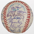 Autographs:Baseballs, 1983 Kansas City Royals Team Signed Baseball....