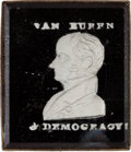 Political:Ferrotypes / Photo Badges (pre-1896), Martin Van Buren: Choice Portrait Sulphide Brooch....