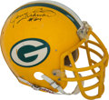 Football Collectibles:Helmets, 1980's George Cumby Game Worn Green Bay Packers Helmet. ...