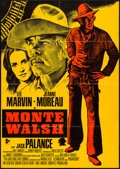 """Movie Posters:Western, Monte Walsh (20th Century Fox, 1970). German A1 (23.25"""" X 33"""") Red and Gold Style. Western.. ..."""