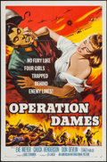 "Movie Posters:War, Operation Dames & Other Lot (American International, 1959). OneSheets (2) (27"" X 41""). War.. ... (Total: 2 Items)"