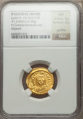 Ancients:Byzantine, Ancients: Justin II (AD 565-578). AV solidus (4.38 gm)....