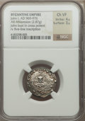 Ancients:Byzantine, Ancients: John I (AD 969-976). AR miliaresion (2.87 gm)....