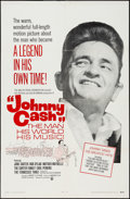 "Movie Posters:Documentary, Johnny Cash! The Man, His World, His Music (Continental, 1969). One Sheet (27"" X 41""). Documentary.. ..."