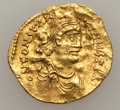 Ancients:Byzantine, Ancients: Constantine IV (AD 668-685). AV tremissis (1.45 gm)....