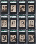 "Non-Sport Cards:Sets, 1948 Bowman ""Movie Stars"" High Grade SGC Complete Set (36) With 87.2 GPA! ..."
