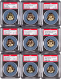 Baseball Cards:Lots, 1909-12 P2 Sweet Caporal Pins Partial Set (58) With Cobb and BothW. Johnson Pins. ...