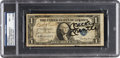 Autographs:Others, 1940's-50's Babe Ruth, Mickey Mantle & George Weiss Signed One Dollar Bill, PSA/DNA NM+ 7.5....