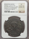 Ancients:Byzantine, Ancients: Justinian I the Great (AD 527-565). AE follis (21.46gm)....