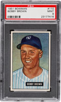 Baseball Cards:Singles (1950-1959), 1951 Bowman Bobby Brown #110 PSA Mint 9....