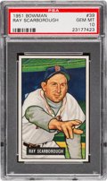 Baseball Cards:Singles (1950-1959), 1951 Bowman Ray Scarborough #39 PSA Gem Mint 10 - The UltimateExample! ...