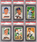 Baseball Cards:Lots, 1951 Bowman Baseball PSA NM-MT+ 8.5 Collection (6). ...