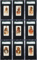 "Non-Sport Cards:Lots, 1887 N2 Allen & Ginter ""American Indian Chiefs"" Collection (10)With Arrow Point/Black Swan Error. ..."